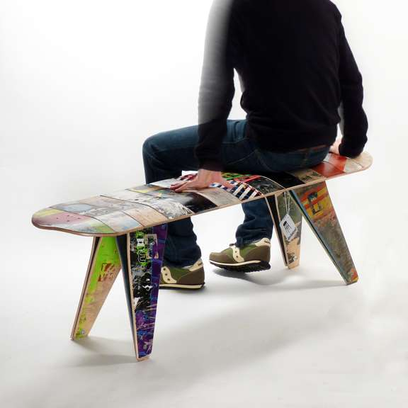 Upcycled Skateboard Seats Deckbench By Jason And Adam