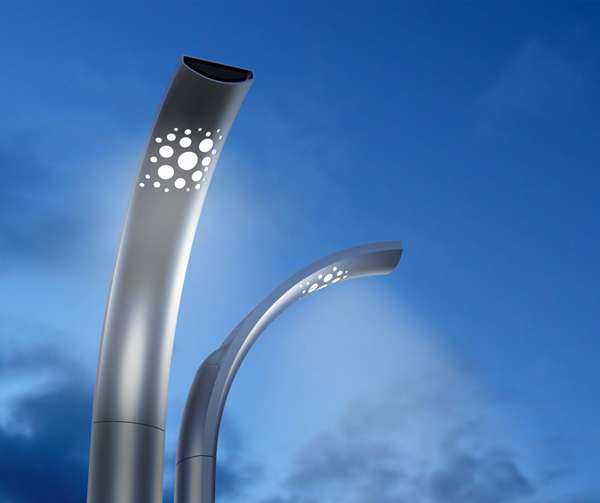 Light Pole Design: Perforated Urban Fixtures : Deco LED Streetlamp