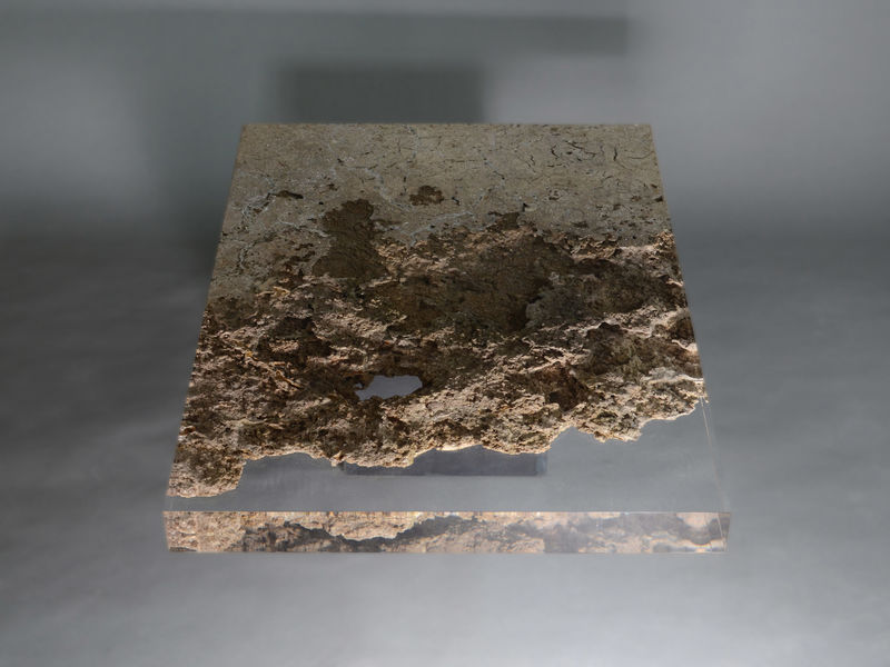 Resin-Coated Eroded Furniture