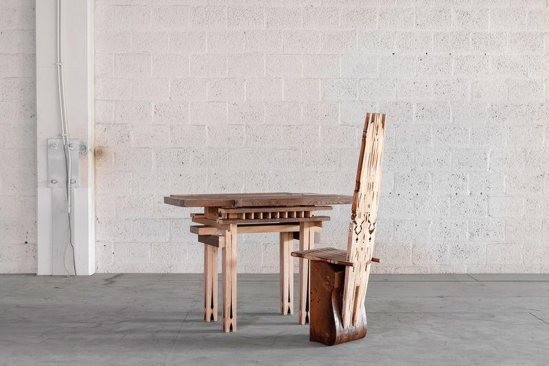 Absence-Illuminating Deconstructed Furniture