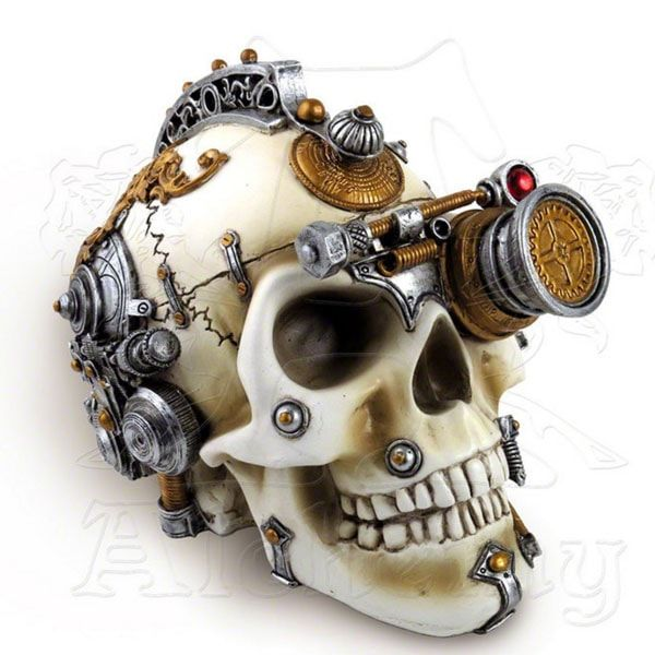 Decorative Steampunk Skulls