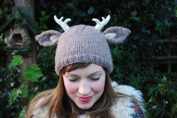 Knitted Antler Hats Deer With Little Antlers Knitting Pattern