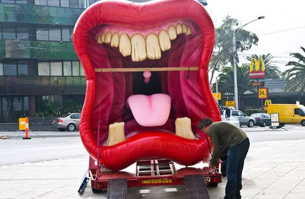 Giant Mouth Street Art