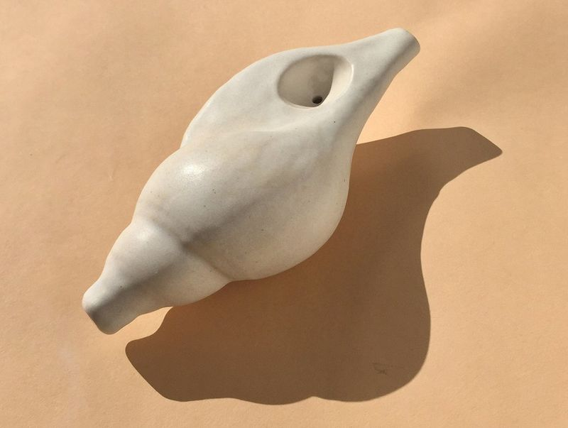 Seashell-Inspired Stone Pipes