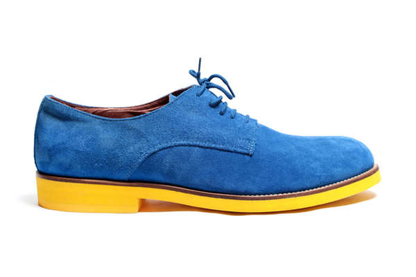 Vibrant Velour Brogues