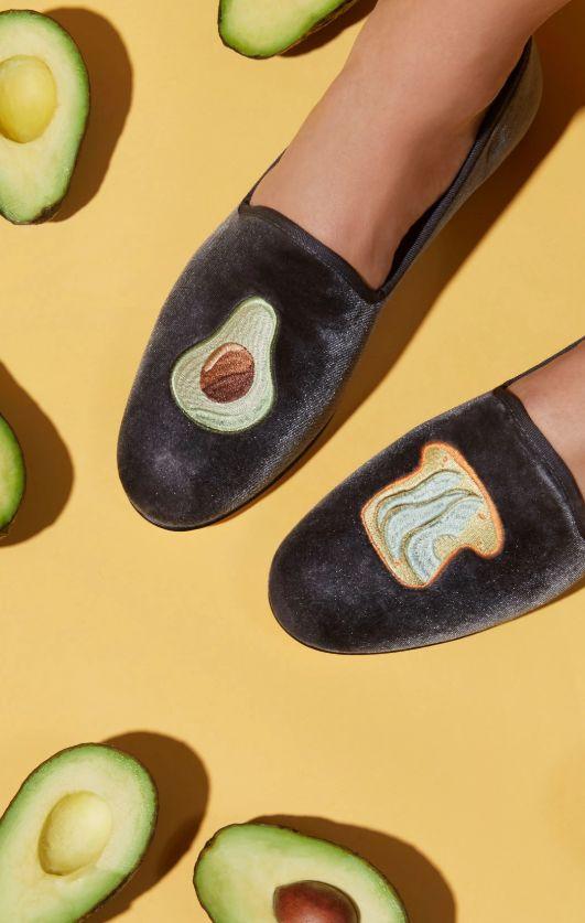 Velvet Snack-Inspired Slippers