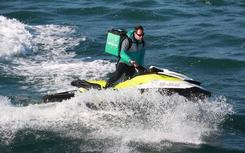 Jet Ski Meal Deliveries