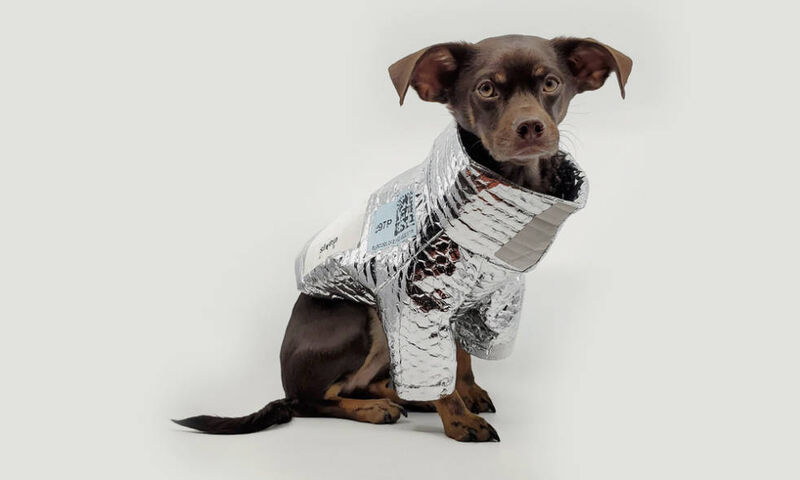 Upcycled Packaging Dog Jackets