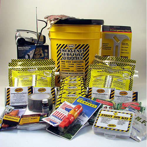 Compact Bucket Survival Kits