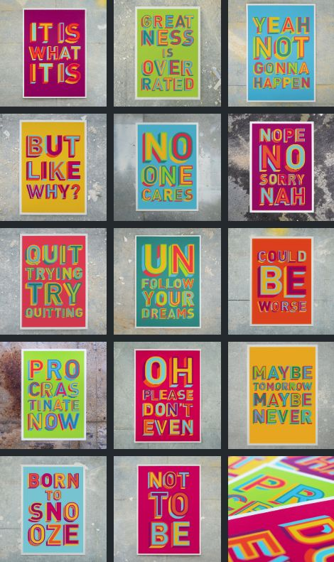 Uninspired Vibrant Posters