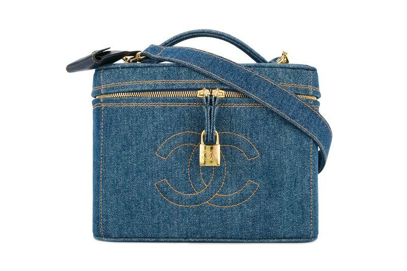 Designer Denim Cosmetics Bag