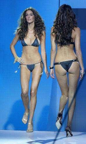 Winning Future >> Blue Jean Swimwear: Micro Denim Bikinis and Briefs for Fashionable Bathing Beauties