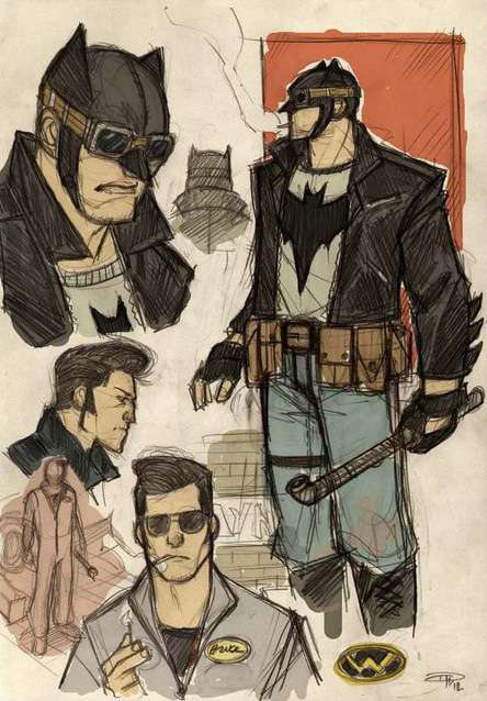 Rockabilly Caped Crusader Renderings