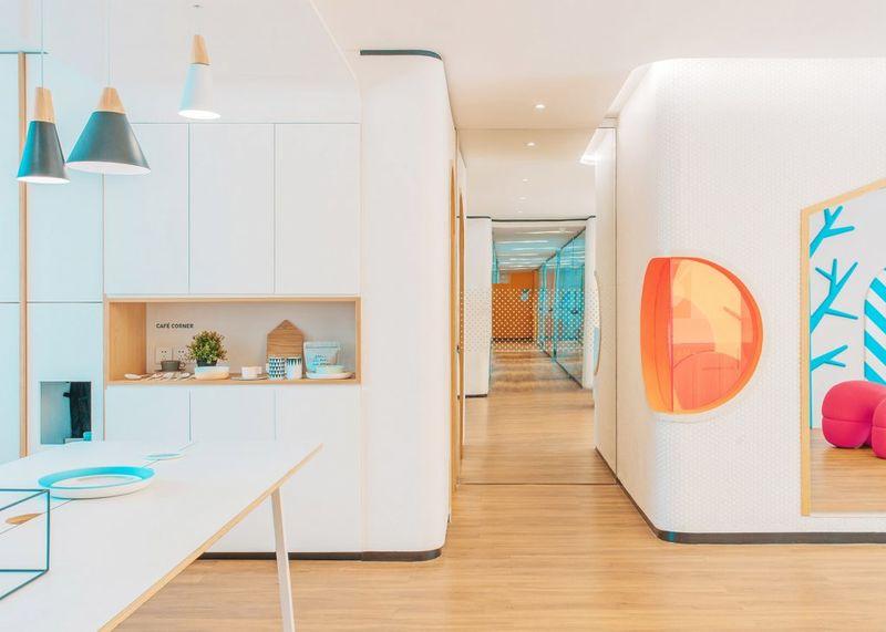 Playful dental clinic designs dental clinic design for Dental clinic interior design concept