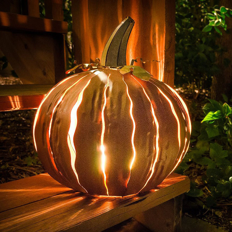 Eerie Metallic Pumpkins