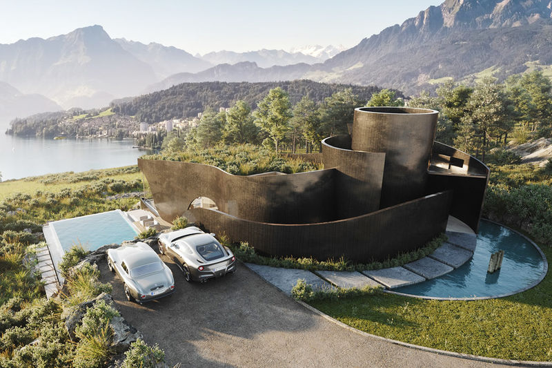 Ribboning Concrete Concept Houses