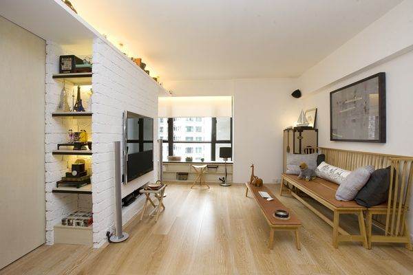 Sliding Space-Saving Apartments