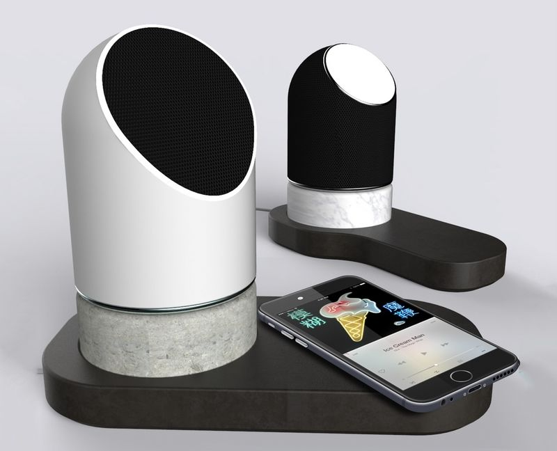 Ceramic Concrete Design Speakers