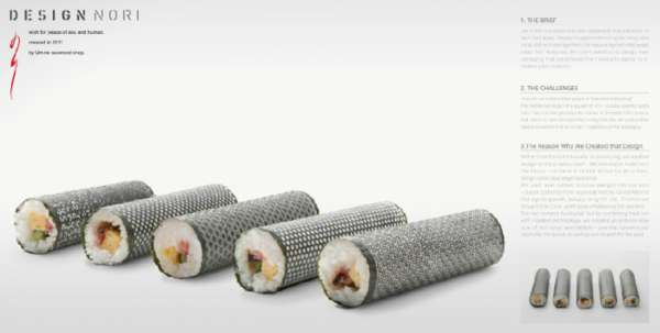 Patterned Maki Wrappers