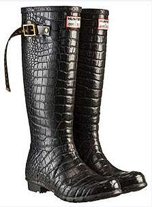 Designer Rain Boots: Couture Hunter Wellingtons by Jimmy Choo