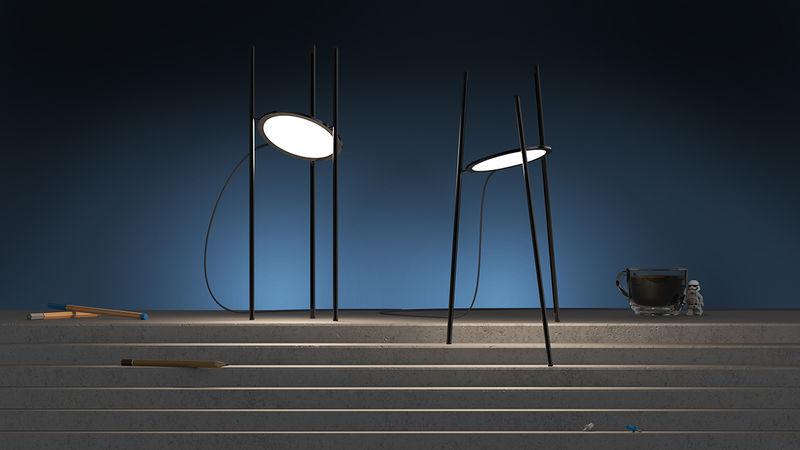Circular Paneled Lamps