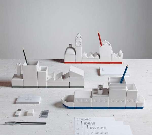 Whimsical Modular Desk Organizers
