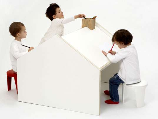 multi-purpose kids' centers: the deskhouse is a children's playhouse