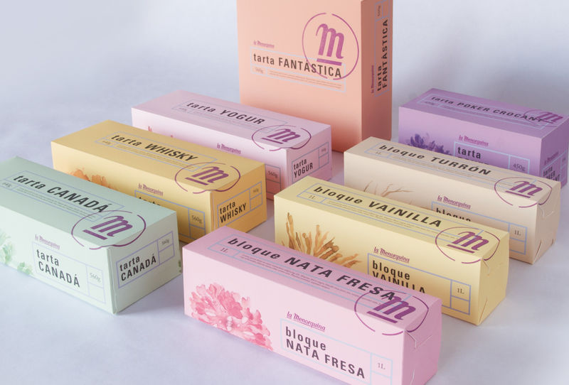 Watercolor Dessert Packaging