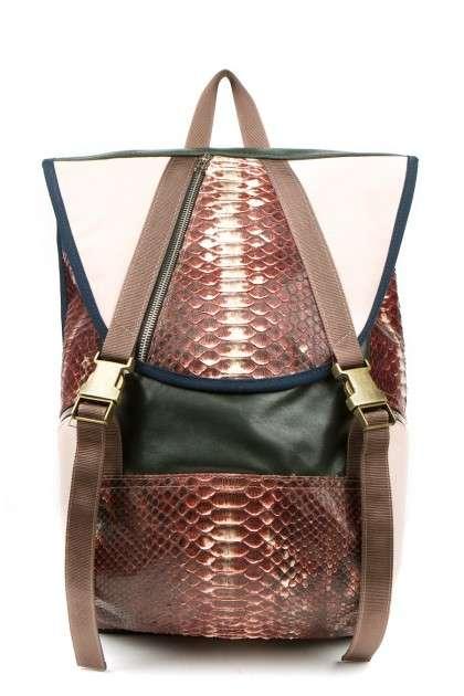 Luxe Python Skin Backpacks