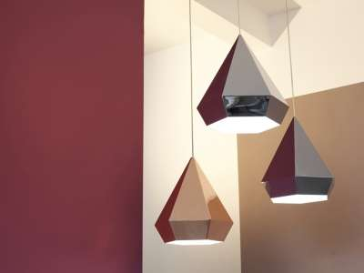 Gem Inspired Fixtures Diamond Lamps By Sebastian Scherer