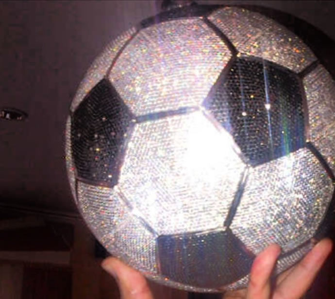 Diamond-Studded Soccer Balls