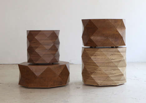 Faceted Timber Furniture
