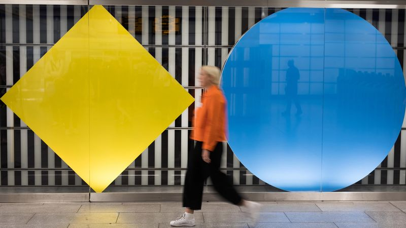 Colorful Geometric Metro Stations