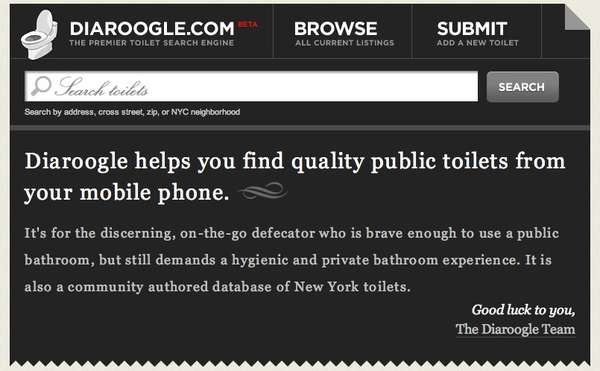 Public Toilet Search Engine