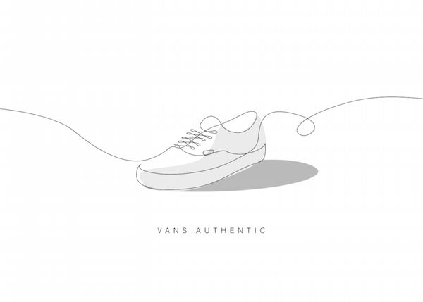 Single Line Sneaker Illustrations