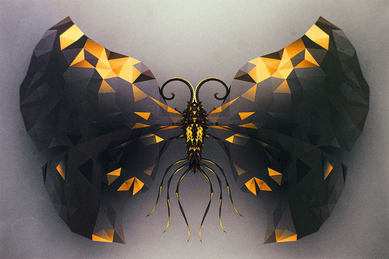 Intricate Digital Butterfly Spiecies