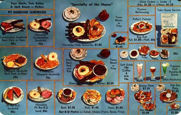 Vintage Menu Exhibits