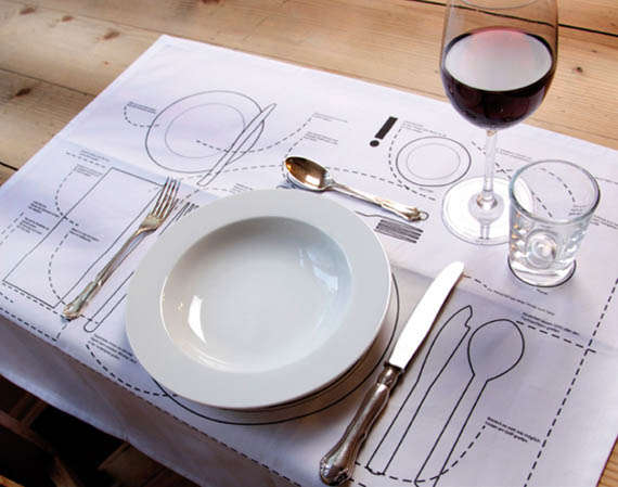 Dinner Etiquette Placemat Diagrams