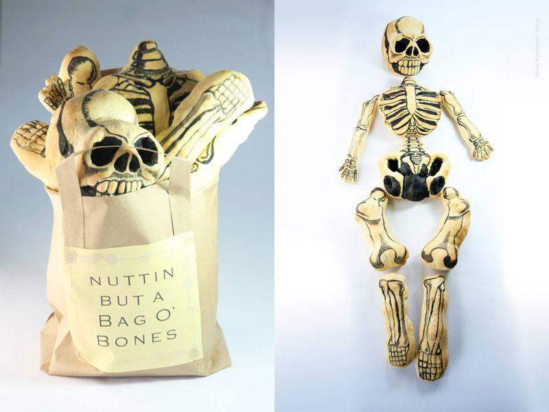 Breaded Skeleton Loaves