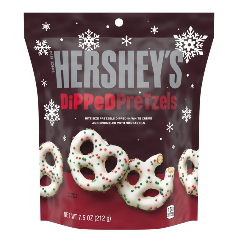 Holiday-Themed Dipped Pretzels