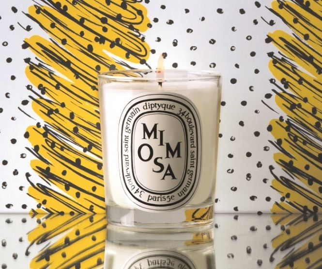 Mimosa-Themed Candles