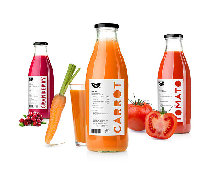 Color-Coded Juice Packaging