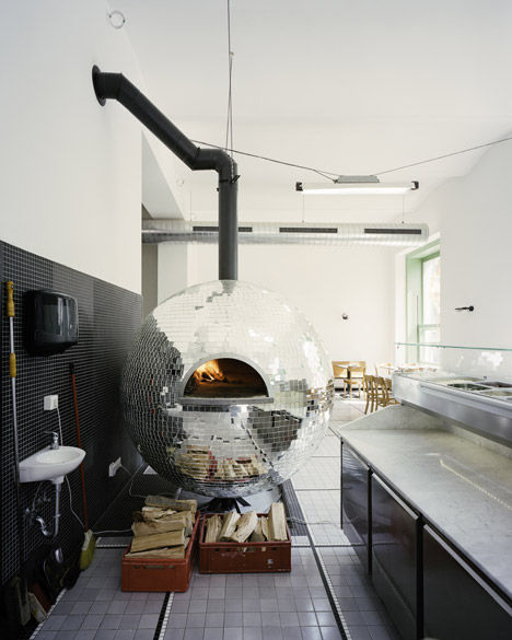 Disco Ball Pizza Ovens