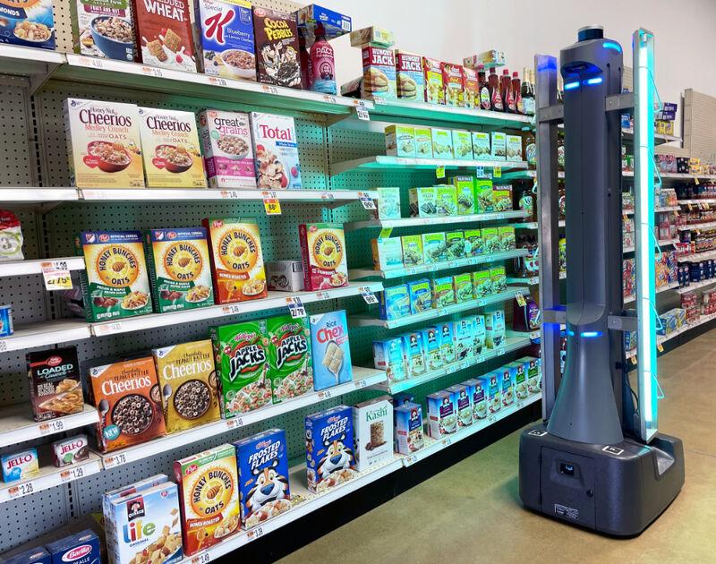 Disinfecting Retail Robots