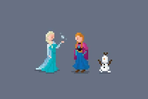 Pixelated Character Cartoons