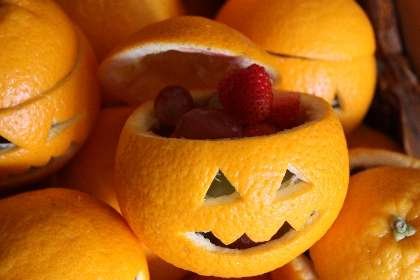 Pumpkin-Shaped Oranges