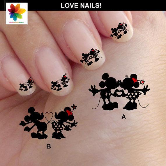 Romantic Disney Nails Disney Nail Art