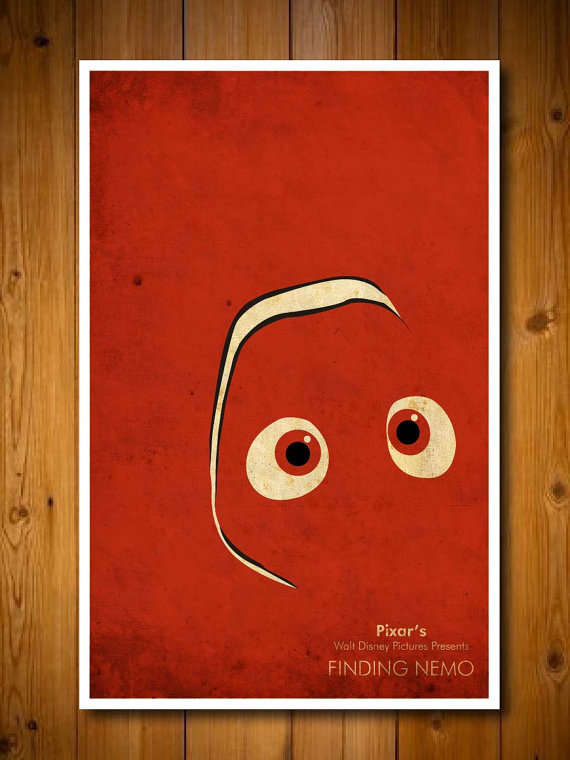 Minimalist Cartoon Movie Posters