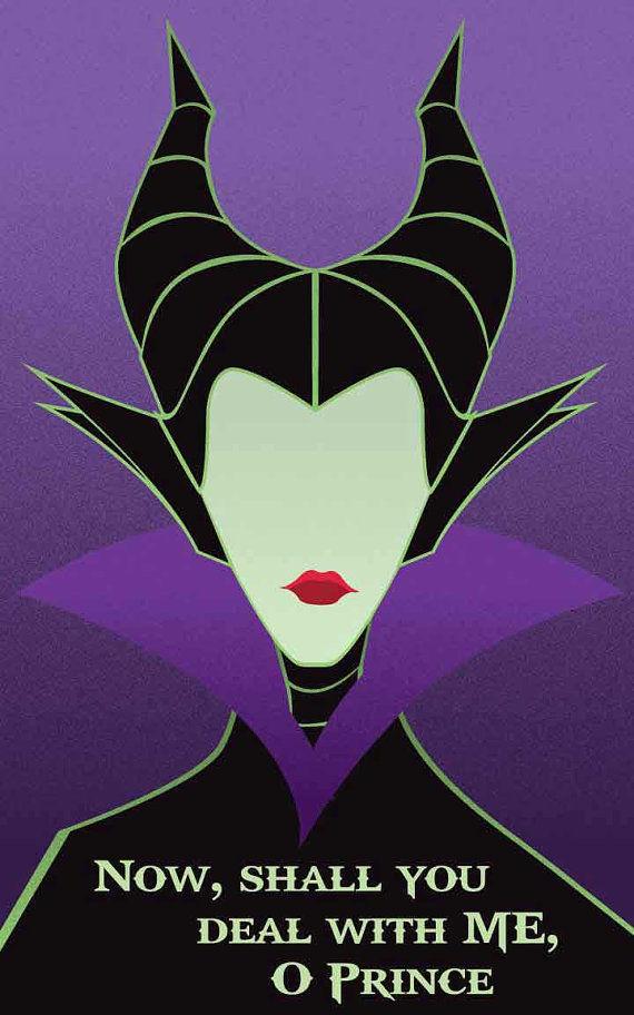 Minimalist Villainous Posters Disney Villain Posters