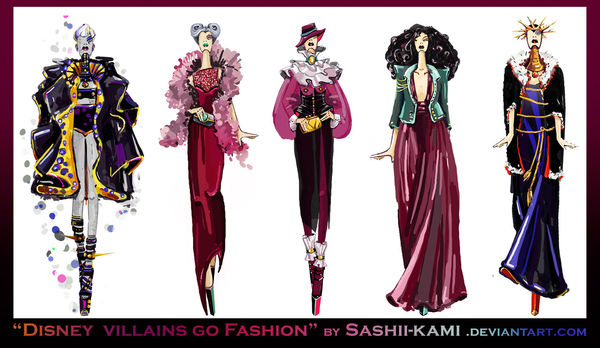 Villianous Fashion Sketches